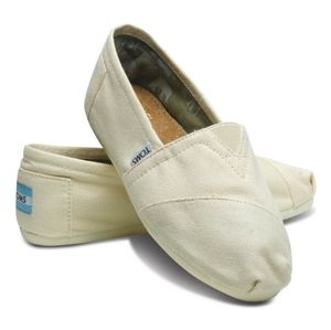 Toms Classic Canvas Natural Slip On Shoes